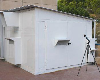 Soundproof cabin for hospital compressor