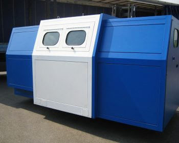 Soundproof cabin for rope-making machine