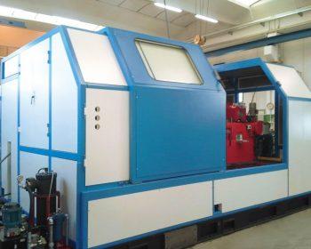 Sound enclosure for a cold pressing machine
