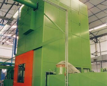 Soundproof cabin for 800 tn press for drawings saucepans