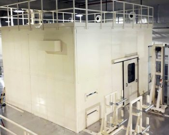 Cabina silente per mulino linea prodotti igiene intima