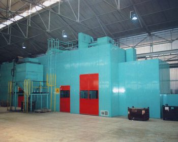 Soundproofing for grit-blasting machine