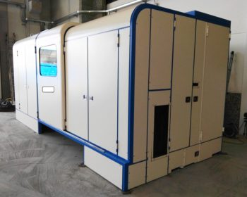 Soundproof cabin for cold forgin screw's machinery