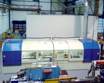 Soundproof cabin for grinding machine