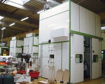 Serie di cabine acustiche per presse rapide 150 tn