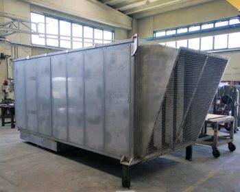 Silencieux dissipatif en acier inoxydable aisi 304 avec un débit d'air de 40.000 mc/h