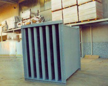 Silencieux à baffles (à absorption) pour de grands débits d'air
